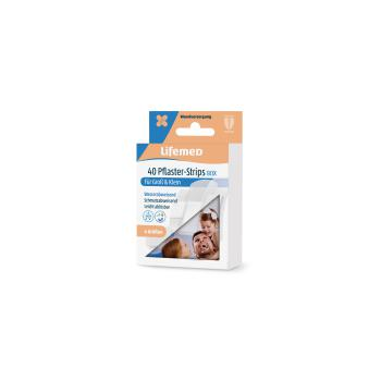 Lifemed Pflaster-Strips Box halbtransparent 40 Stk.