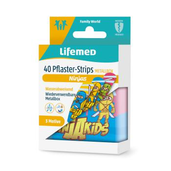 "Lifemed Pflaster-Strips Box 6 cm x 1,7 cm ""Ninjas"" 40 Stk."
